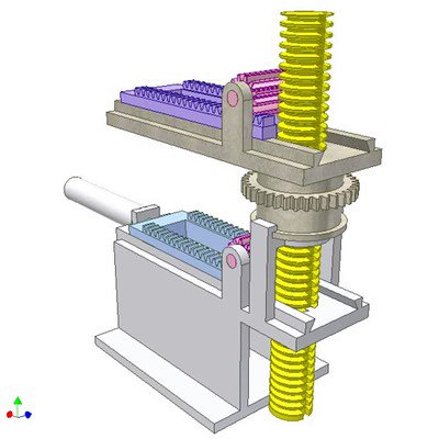 Gear - Rack Drive for Changing Direction of Linear Motion