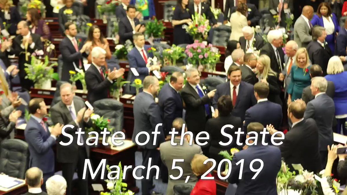 Thank you to those who joined us at my first State of the State address. I am optimistic that this legislative session provides us with a unique opportunity to advance needed reforms in a variety of different areas that will strengthen our state and benefit Floridians.