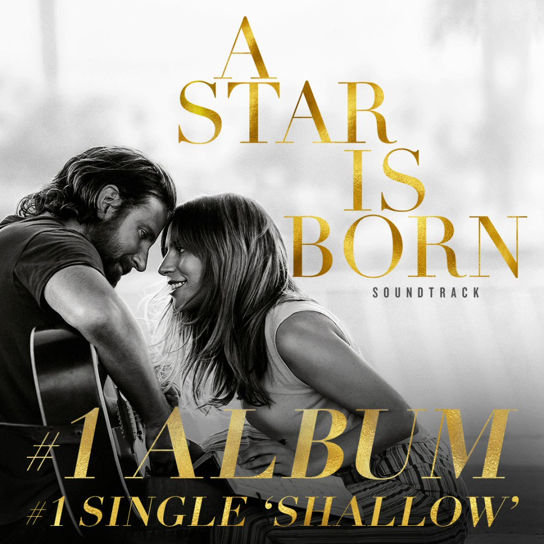 The #AStarIsBorn  Soundtrack is this week's #1  Album, featuring the #1  Single 'Shallow'. Congrats to all! In celebration, get the Limited Edition Box Set HERE:  https://astarisbornmusic.com/products/a-star-is-born-limited-edition-soundtrack-collection  …