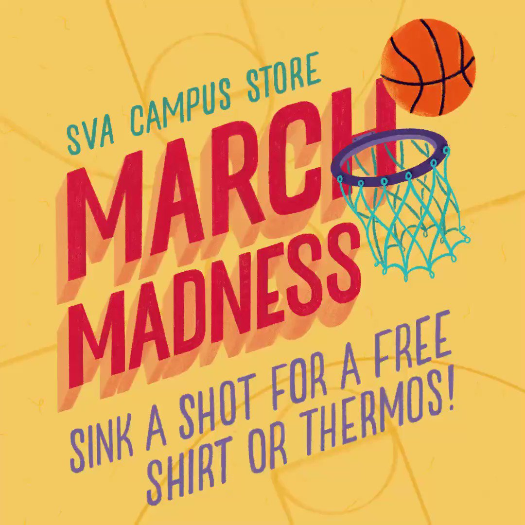 e2c99c5c9f017b SVA Campus Store · @SVACampusStore. a month ago. 🏀😎 A time-lapse video of  our March Madness artwork! Made in #