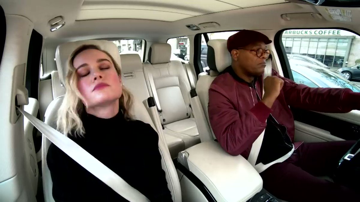 i didn't know brie larson and samuel l jackson duetting 7 rings was something i needed to see, but here we are