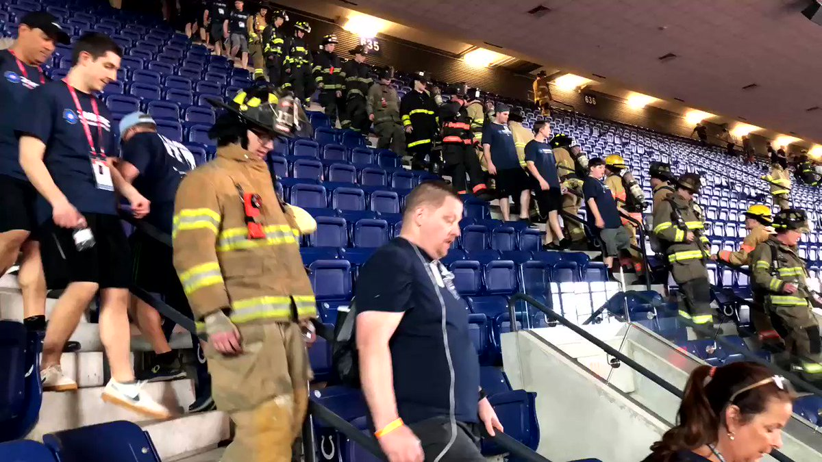 We climb because they climbed. #TBT to our 9/11 stair climb, honoring the 343 firefighters who climbed 110 flights of stairs on 9/11.   36 days to #FDIC2019's climb. Are you ready?