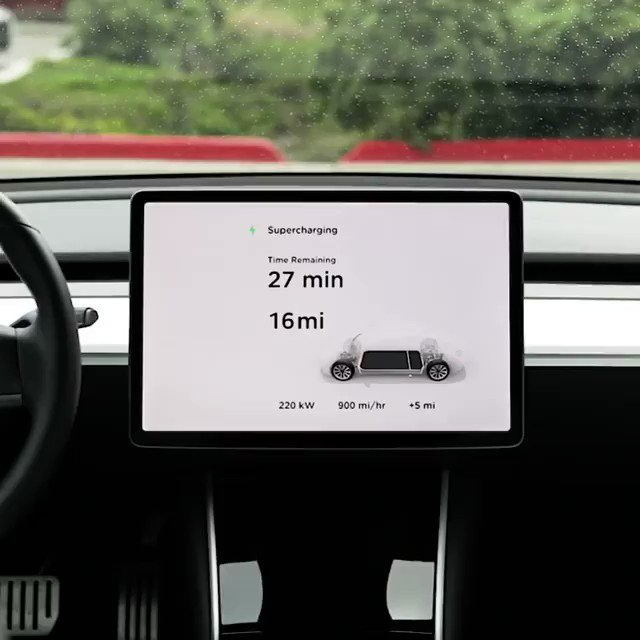 Image for the Tweet beginning: Charging at 1,000 miles per