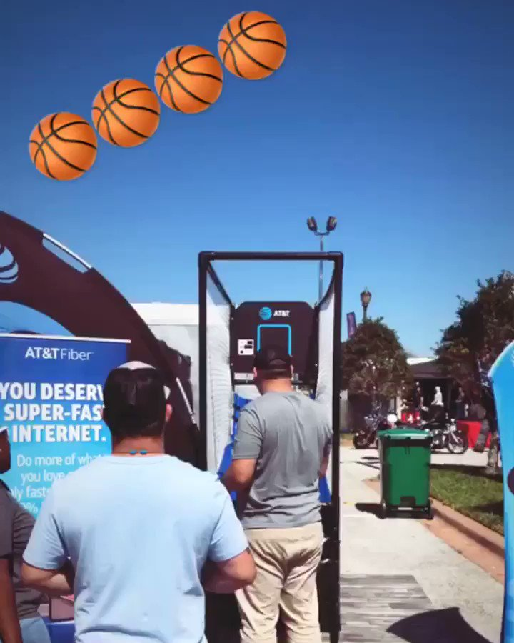 Swooshhh!! Come Shoot Your Shot  at our Booth 🏀🏀!! Daytona Bike Week! #ATTFiber #DirectvNow #DTV #MoreForYourThingThatsOurThing #CCGMEvents https://t.co/0sIRytmcVC