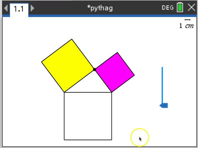 Here is the same #PythagoreanTheorem #ProofWithoutWords done in the new TI Nspire CX Premium Teacher Software, @desmos, and @geogebra #T3IC #T3IC2019 #T3Learns #ICanUseAllThree