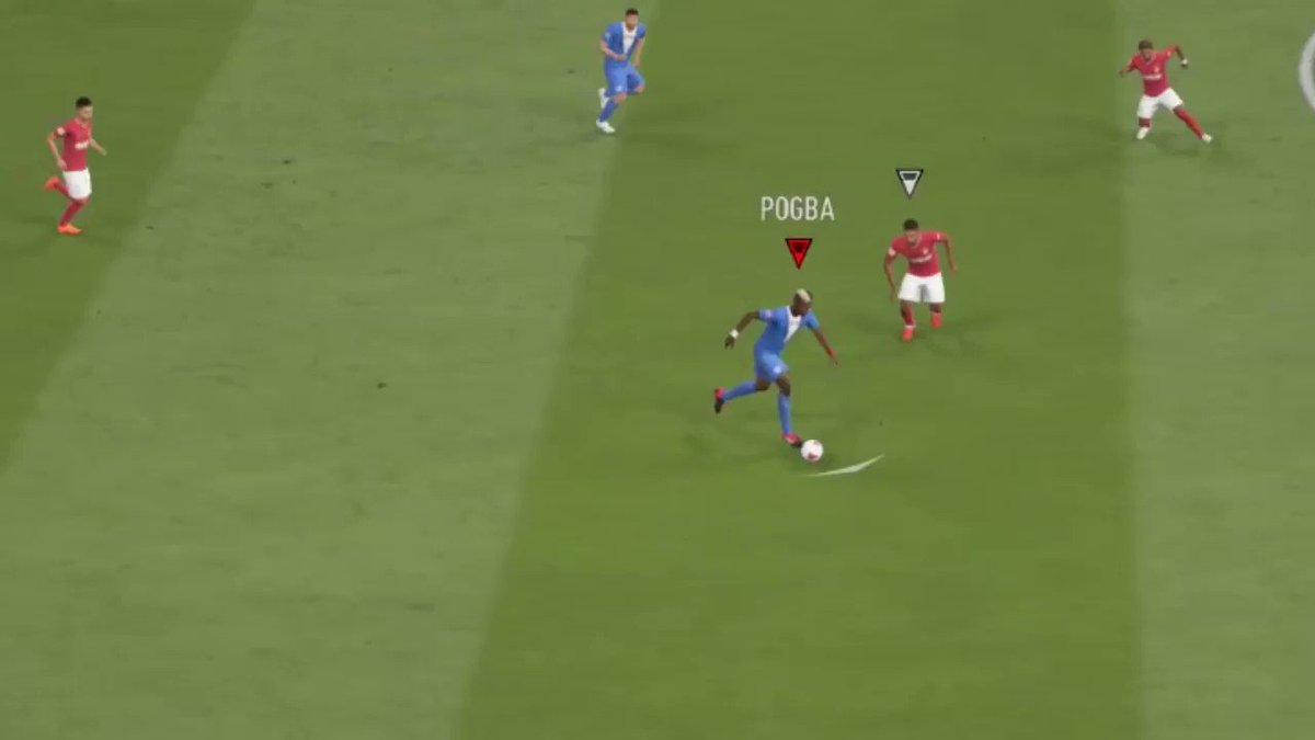 For FIFA 20, I think AI controlled defenders should bite on well-timed skill moves like this.  Not quite as dramatically, but enough to create space.  AI are too good at mirroring/containing skillful dribbling, rewarding people that rely heavily on AI.