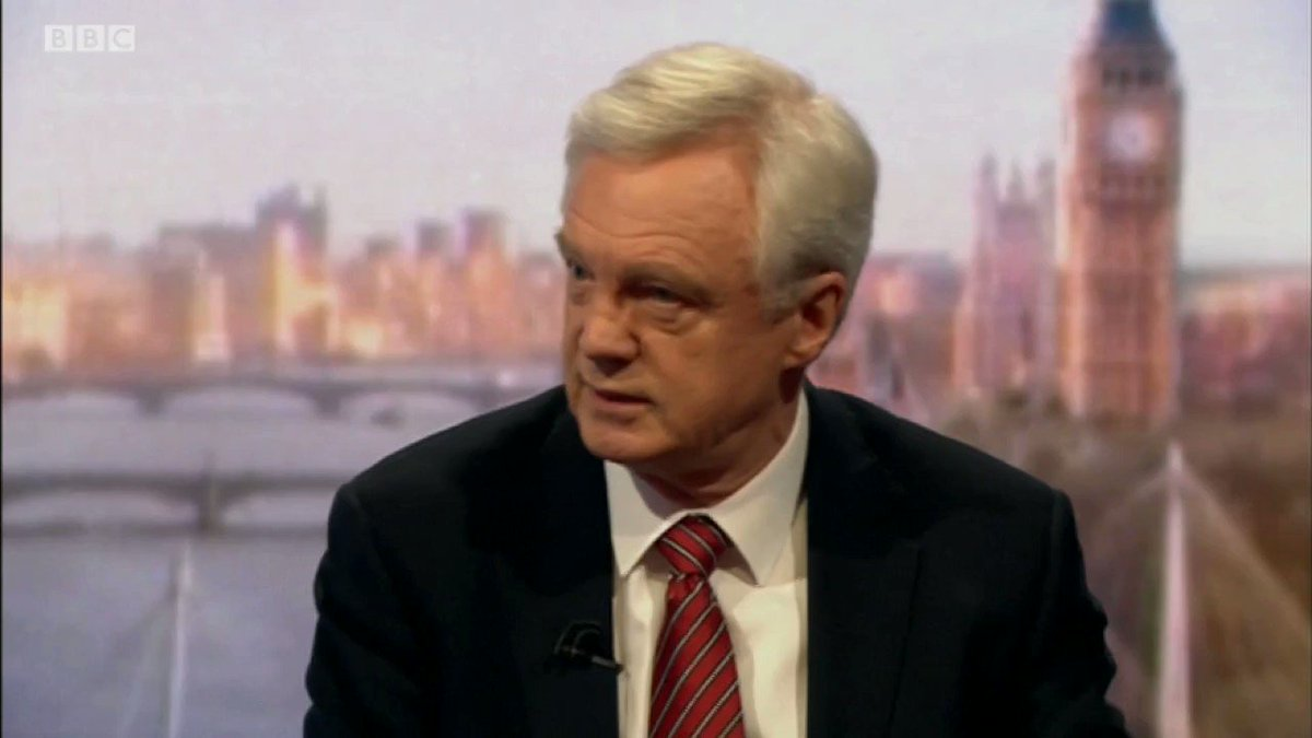David Davis is a total JOKE!!! 🤣🤣🤣 He says we shouldnt leave without a deal and that the deal is worse than staying in the EU. But denies that we should therefore stay in the EU. Then when #Marr calls him out on that contradiction, he blames the establishment and the Media!
