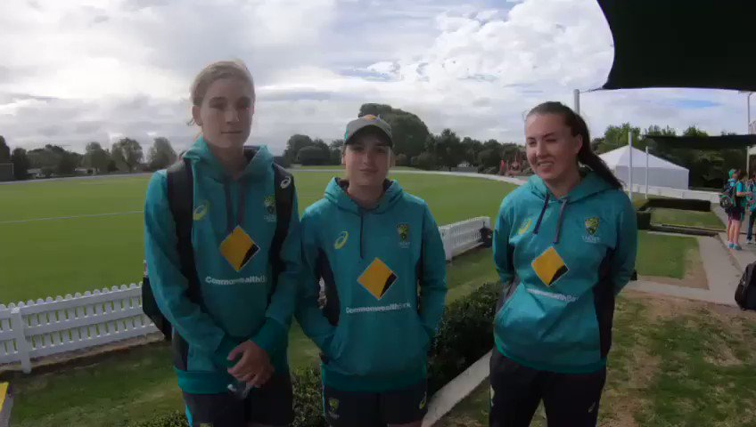 Our Aussie Under 19 Women begin their four-match Tour of NZ in Lincoln today against a New Zealand Development squad.   Ahead of the match, @nicolefaltum caught up with Annabel Sutherland and Rachel Trenaman. Check out what they had to say 👇