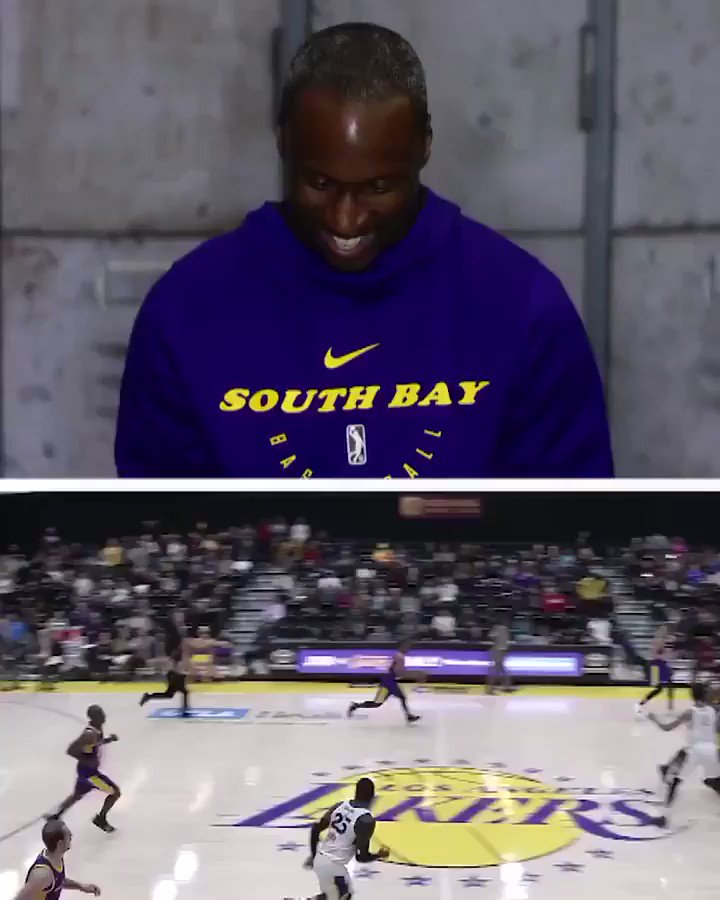 This season Andre Ingram had a memorable game-winner for the @SouthBayLakers.   ... he later got the chance to see his teammates' reactions 👏  #GLeagueTopPlay