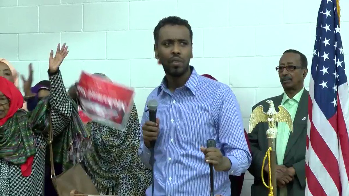 Meet Mohamud Noor, the newly elected Democrat member who replaced Ilhan Omar's old seat in Somali, oops, Minnesota. Noor didn't feel the need to speak English because his constituency is Somali.  #WAKEUPAMERICA before it is too late 😢😢  👇👇