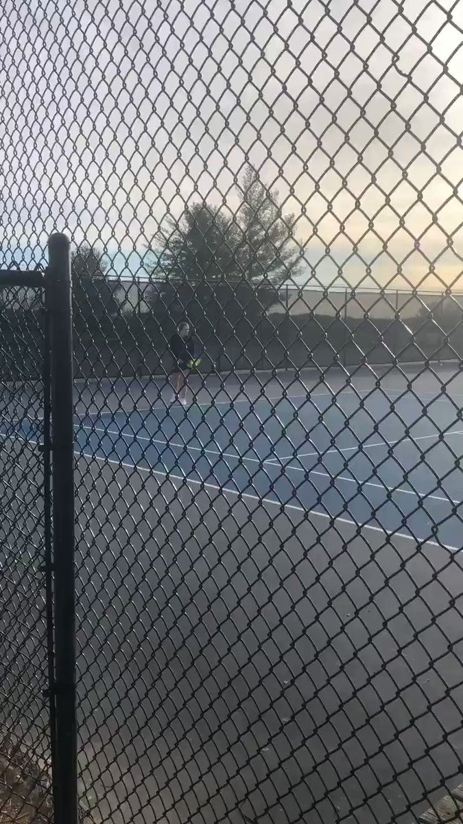 Tennis action @CHSBlueDemons!