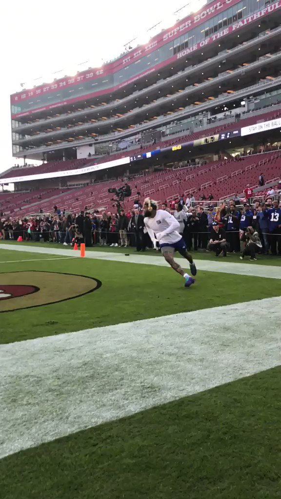 Get ready, Cleveland: OBJ's warmup routine is the stuff of legend �� https://t.co/gY6Rx3vyQs