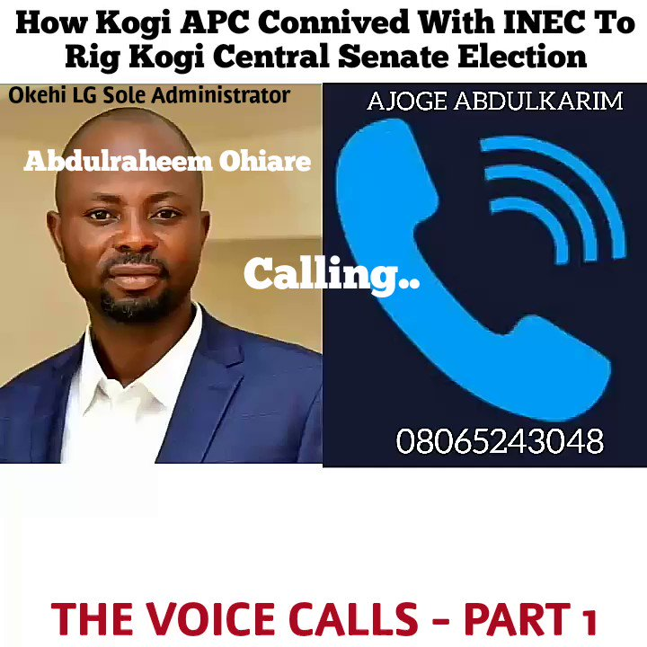 Exposed 🔥 Leaked conversation.  How Okehi LG Administrator Abdulraheem Ohiare of @APCNigeria Kogi chapter connived wit @inecnigeria staff to rig #Natasha #Akpoti Kogi Central Election.  @segalink @OfficialPDPNig @MBuhari @ProfOsinbajo @USEmbassyAbuja @anticorruption @EiENigeria