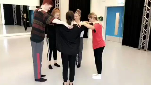 Whacky warm up Wednesday! #dancedegree #dancers #level3 #company #tourready #contemporarydance #lincoln #jumpingaround