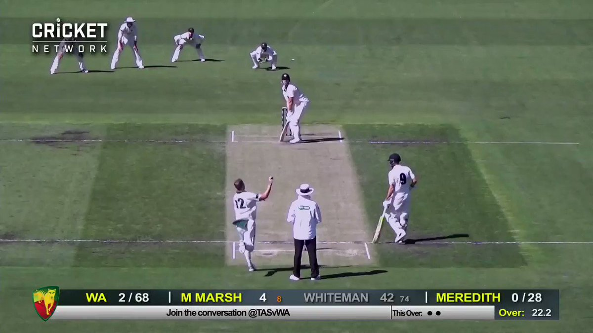 WA skipper Mitch Marsh in great touch against Tassie this morning. Here he is whacking 6 4 4 4 in consecutive balls!  LIVE: https://cricketa.us/Shield1819_27 #SheffieldShield #TASvWA