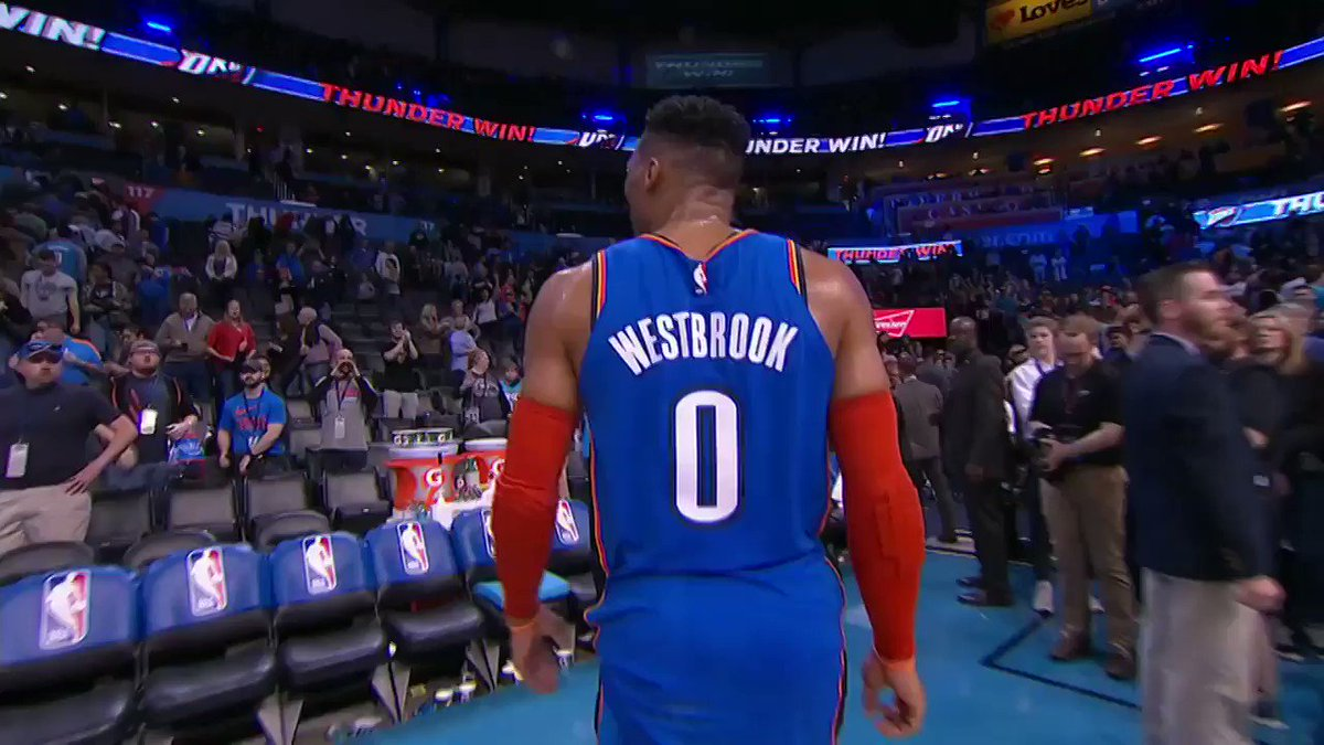 The look on kids' faces after they catch a @russwest44 shoe >>> https://t.co/VbPd3cMosk