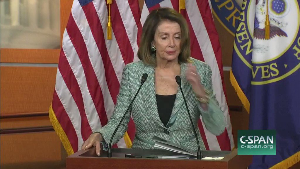 """.@SpeakerPelosi: It's """"really important"""" to lower the voting age to 16."""