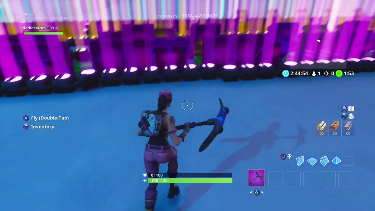 that moment when your bored in fortnite creative mode so you just start playing - fortnite despacito creative