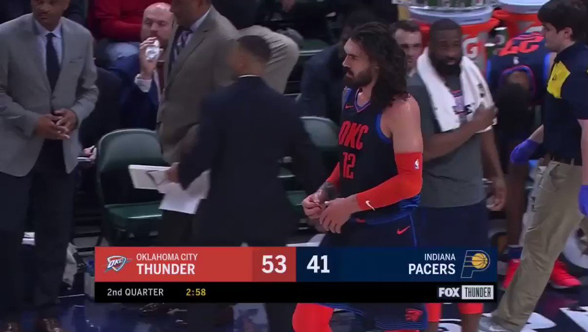 Steven Adams' hair is a majestic lion's mane passed down from the gods of Mount Olympus