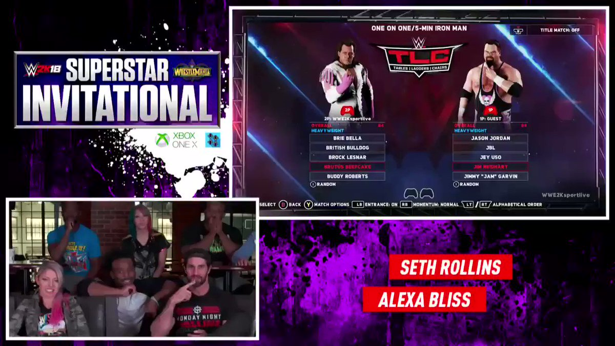 Who remember last year on @UpUpDwnDwn when @AlexaBliss_WWE pick Jim Neidhart and @WWERollins pick John Cena to go against each other in the first round of the WWE 2K18 Superstars Invitational Tournament. Respect to Alexa for choosing the Anvil.@NatbyNature #RIPJimNeidhart