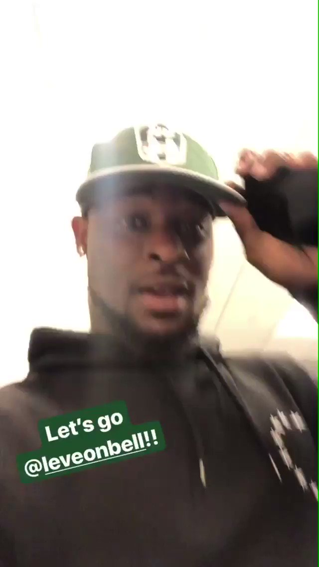 Le'veon is HYPED to be a Jet✈️🔥