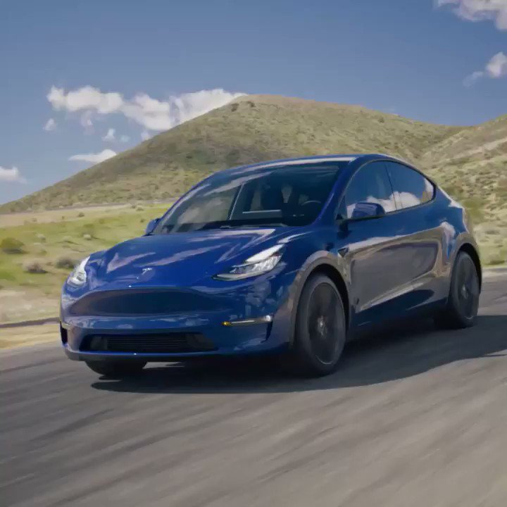 Image for the Tweet beginning: And the Tesla #ModelY in