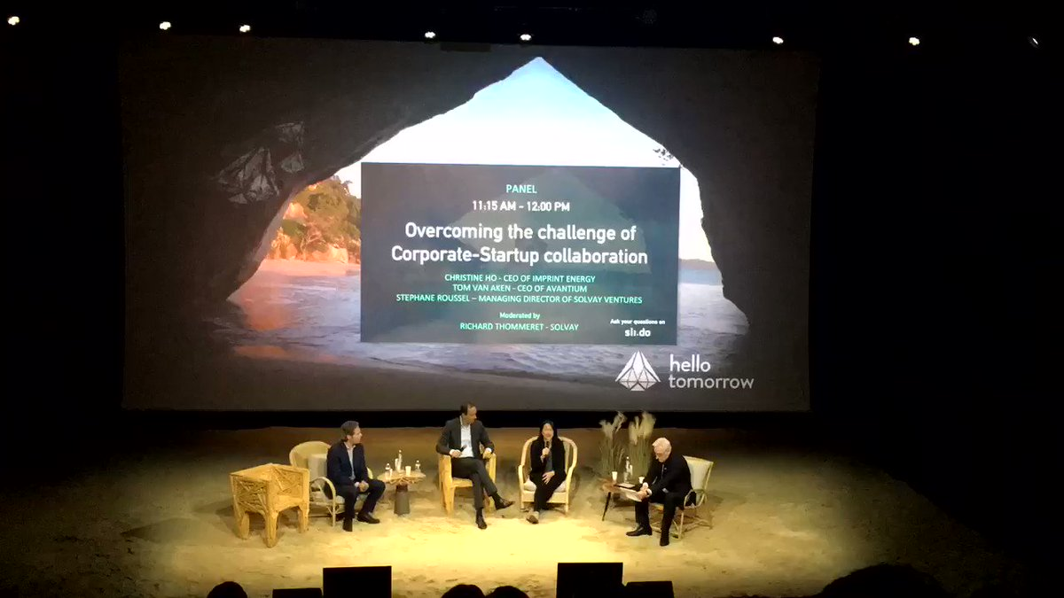 This morning at Hello Tomorrow Summit @104paris @hellotmrc #DeepTechAcademy #deeptech #HTSummit