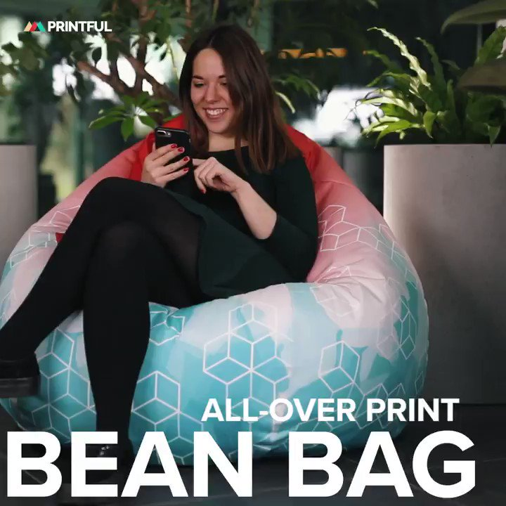 Amazing Printful On Twitter Bean Bags Are The Ultimate Machost Co Dining Chair Design Ideas Machostcouk