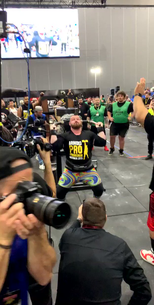 This is why I love the @ArnoldSports Strongman. 13 reps of 352 pounds.