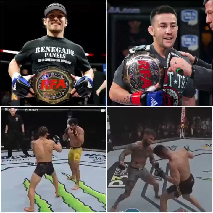 #FBF: In a span of 13 days, two former @RFAfighting #bantamweight champs (@CoolHandMMA + @PedroMunhozMMA) KO'd two former #UFC #bantamweight champs in the #UFC! 🔥  Who will be our next #bantamweight champ: @CKMMA125 or @VinceTheAnomaly? 👑  #LFA62 🎫: http://bit.ly/LFA62