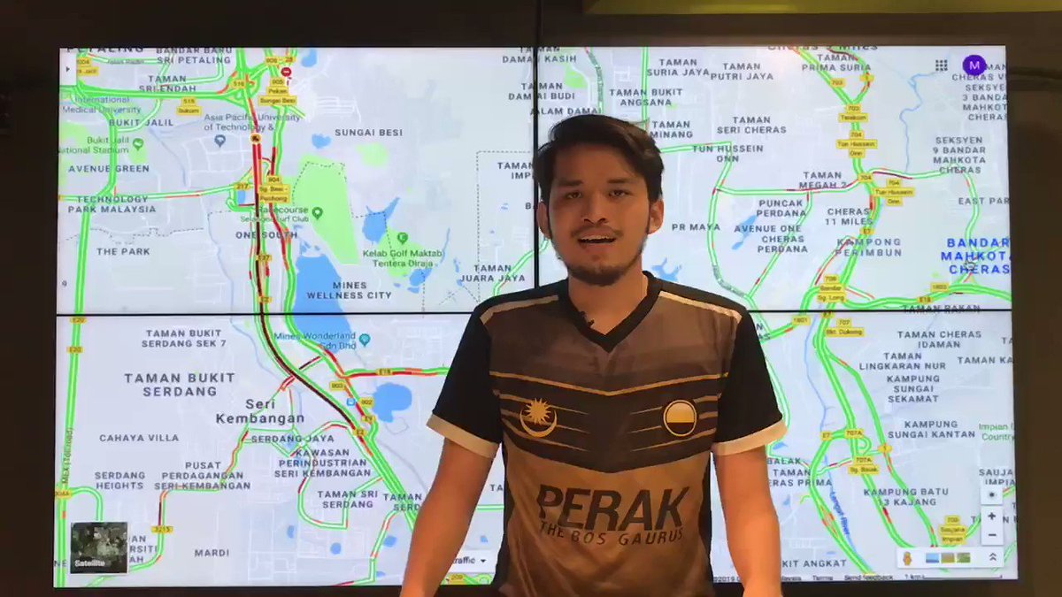 Image for the Tweet beginning: Keadaan trafik di lebuhraya sekitar