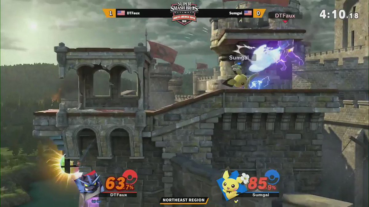 DTFaux suplexes his way to the top and breaks his opponents in half, taking the Northeast Region title! He moves on to the #SmashBrosUltimate #NintendoNAO19 Grand Finals at #PAXEast! Tune in to see more winners crowned.   http://twitch.tv/nintendo