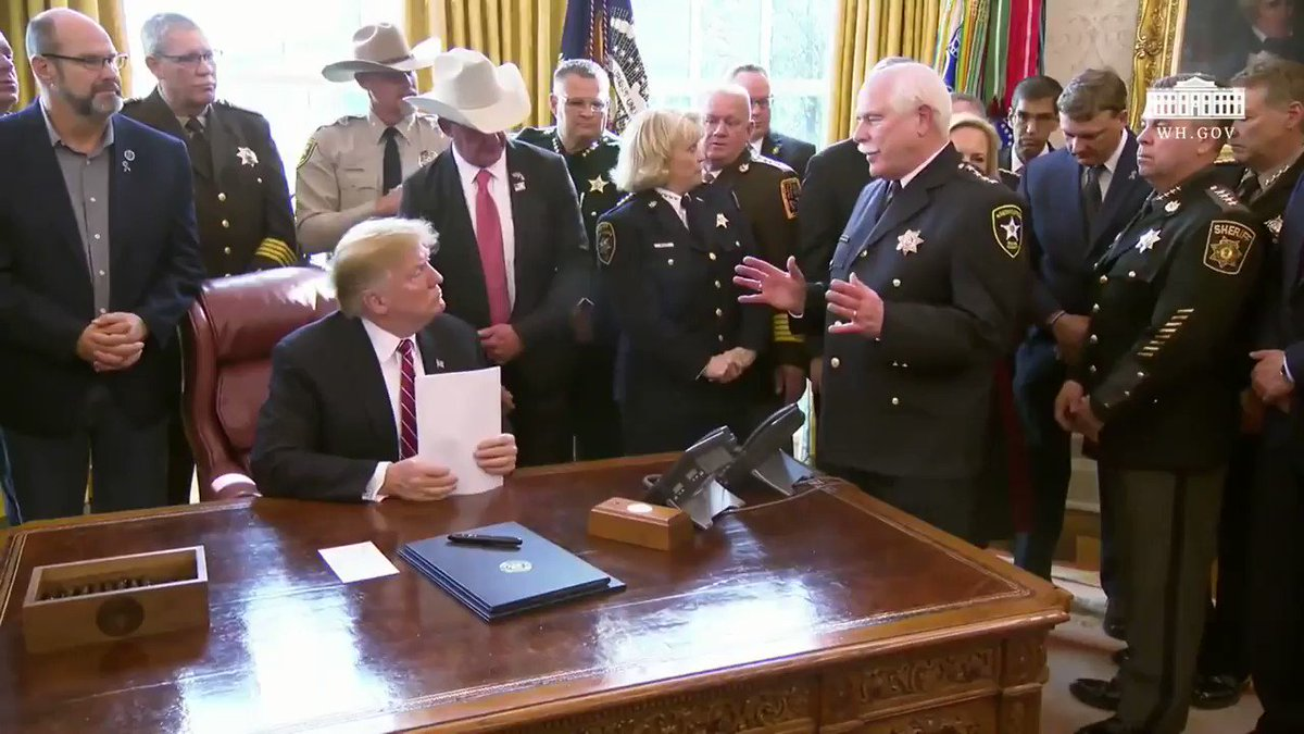 "Image for the Tweet beginning: Sheriff Hodgson: ""Mr. President, you"