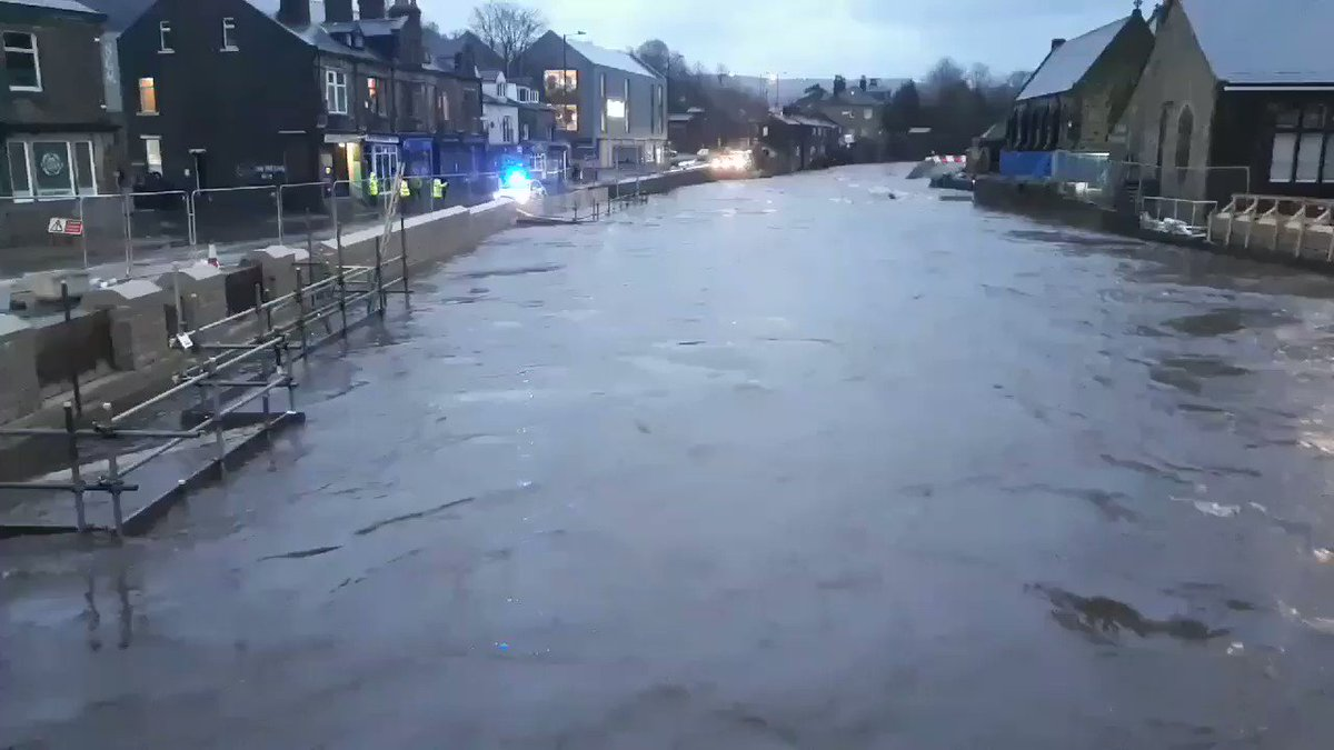 River Calder in Mytholmroyd this evening #Yorkshire #flood