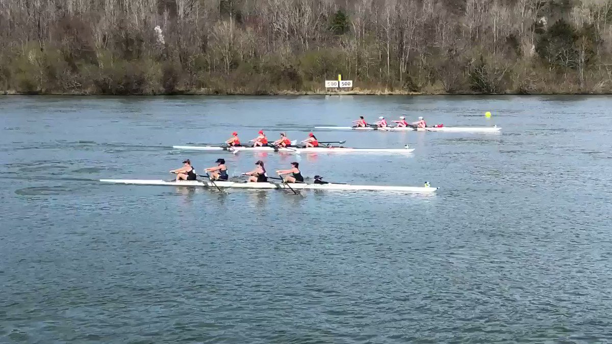 The V4 takes second (6:17.501) - ahead of Clemson 6:24.091 and behind Wisconsin 6:12.342 - in our second afternoon race in Oak Ridge