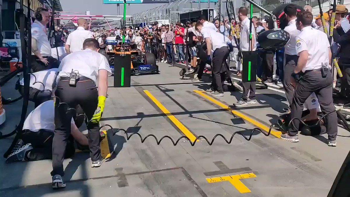 Practice, practice, practice.   Getting some pre-race pitstop practice in. 💪 #AusGP