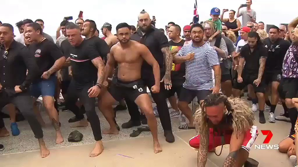 Incredibly emotional display of the famous #NewZealand Haka performed to honor the victims of the #NewZealandMosqueAttack
