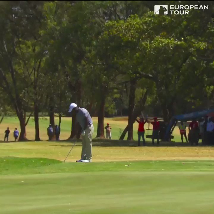Watch an overzealous marshal leave his post to bearhug player at European Tour event