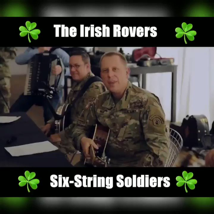Happy #StPatricksDay!  Enjoy this song performed by  @TheIrishRovers and our very own Six-String Soldiers from the @thearmyfieldband.  #USArmy #Video by Sgt. 1st Class Marc Purinton