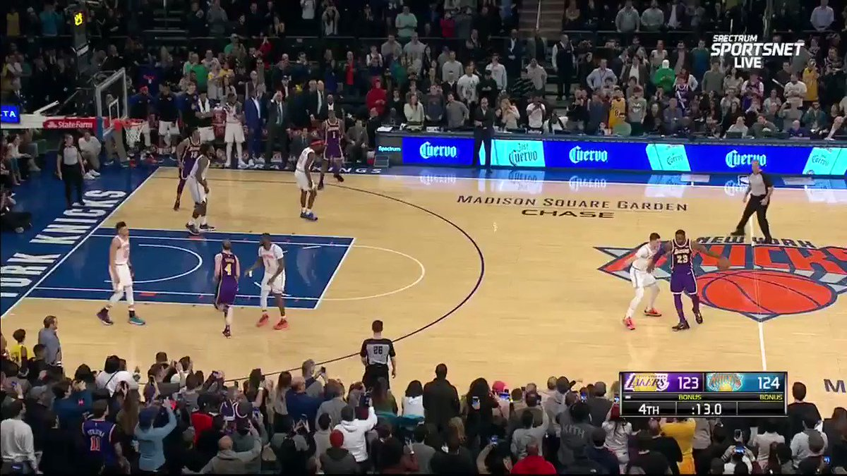 LeBron storms off to the locker room after Knicks block his game-winning attempt