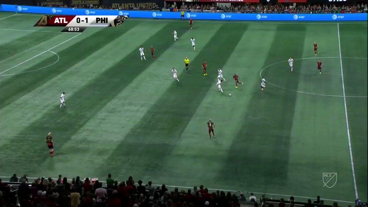 Ezequiel Barco ⛵ consiguió el empate para Atlanta United con este gol de cabeza. #MLS #ATLUTD #DOOP