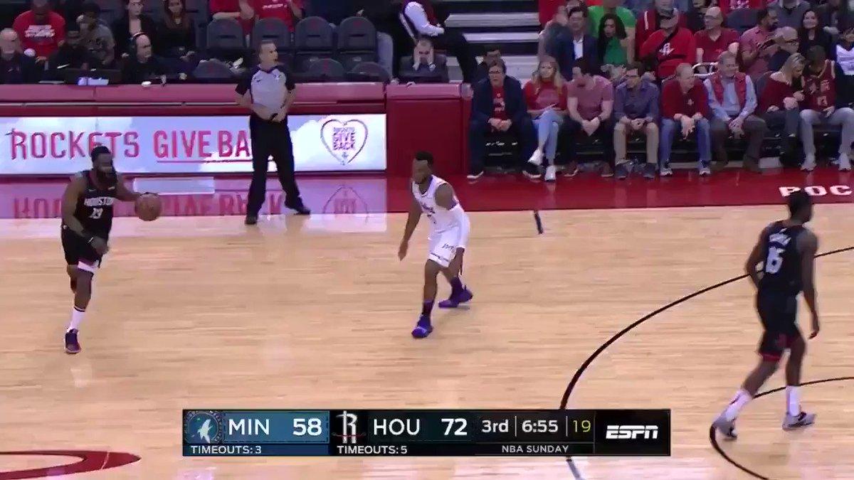 Chris Paul @CP3 lleva marca de 6-7 😳 🔥 #NBA #Rockets #Timberwolves