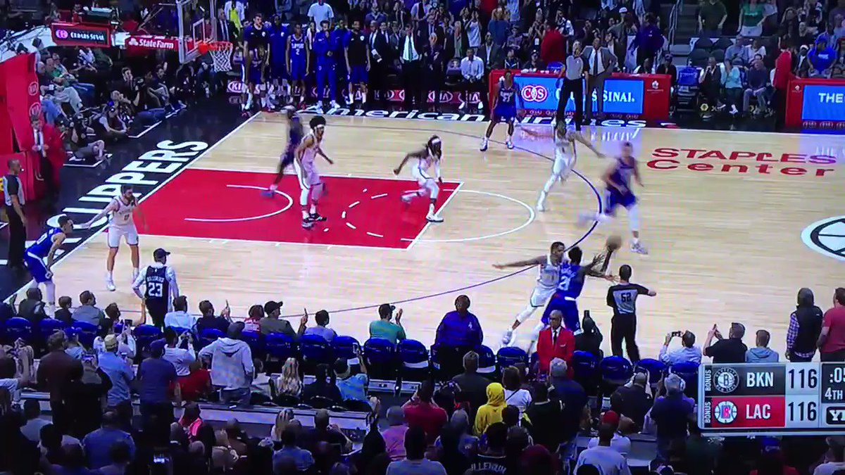 Lou Williams SPLASH for the win at the buzzer. Damn.