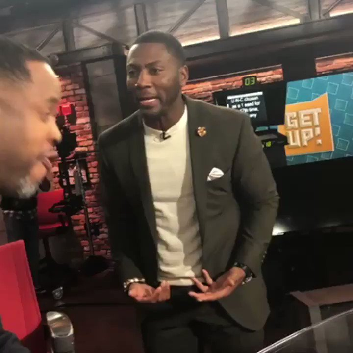He said 'you short, bro.' 😩 Y'all think @Realrclark25 could give @D19J buckets?