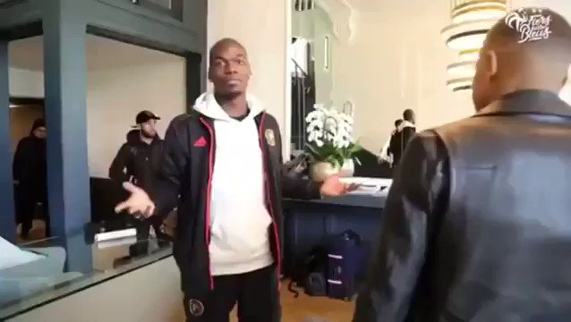 Pogba sees Mbappe for the first time since United knocked PSG out of the Champions League! 😂 #mufc