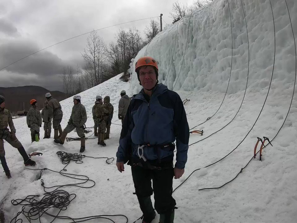 I enjoyed my weekend at the Army Mountain Warfare School in Jericho, Vermont engaging with students and cadre, conducting ice climbing drills, and seeing the challenging training they provide to our @USArmy. #MeetYourArmy #Ready2Fight @USNationalGuard @VTNationalGuard