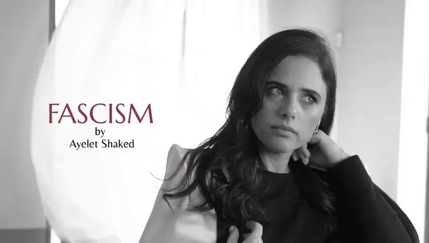 """This is one of the most bizzare election ad you have ever seen: Israel's Minister of Justice (!!) Ayelet Shaked plays a model, sprays herself with """"Fascism"""" perfume and says: """"Smells like democracy to me"""". Viktor Orban on steroids"""