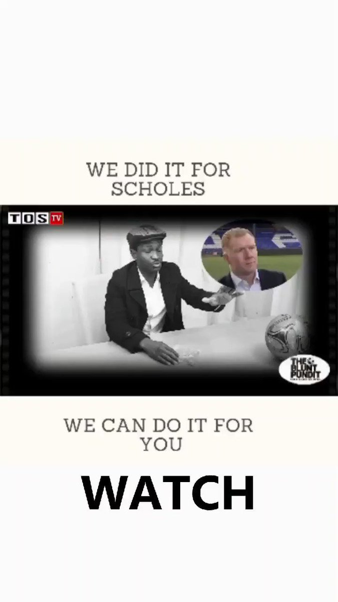 We did it for scholes we can do it for you! #scholes #paulscholes #manchesterunited #arsenalfan #aftv #arsenal #championsleague #TakaFantasyFootball #bbcsports #motd #PLTONIGHT #SkySports