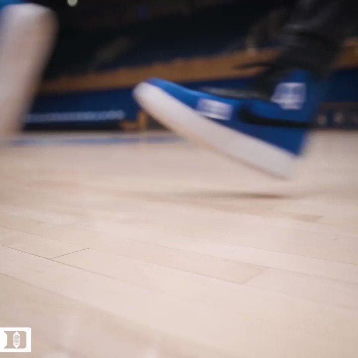 Dancin shoes #DukeKicks 🕺🔵😈 #SI6HTS