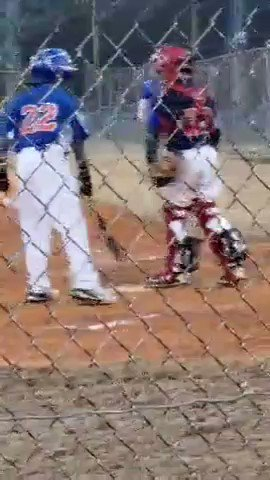 I missed it with our JV game going on, but first at bat of the season for J was a good one! #GoChiefs, 14 -2 https://t.co/JyHocwVrpS